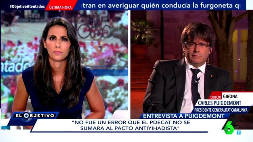 Puigdemont  pide en El Objetivo no mezclar los atentados con el proceso independentista