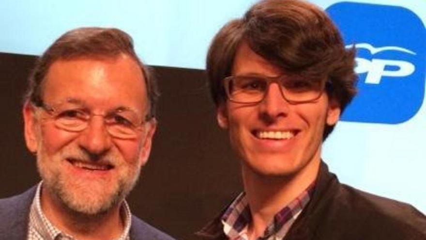 Mariano Rajoy y Luis Salom, en la foto que éste utiliza en su twitter.