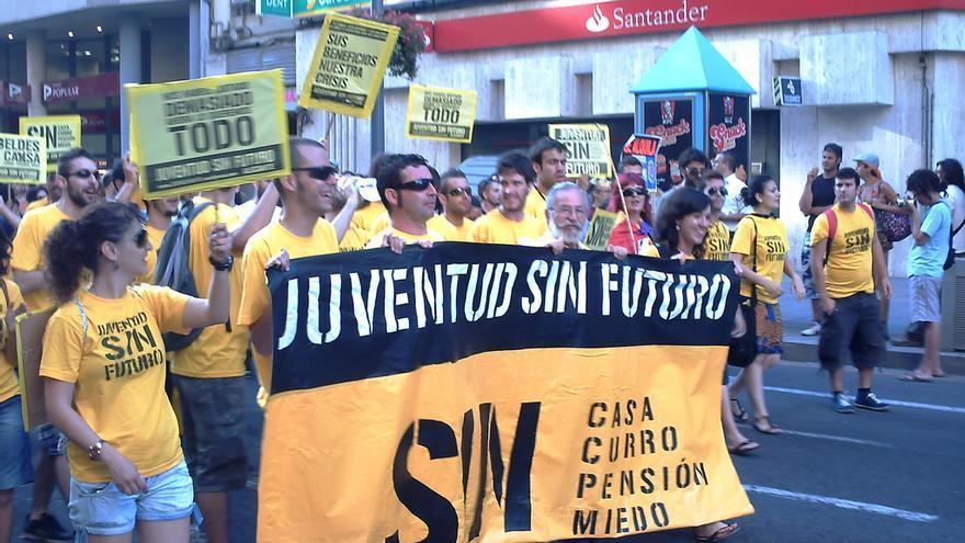 Manifestación de Juventud Sin Futuro en Alicante. CC Neil Vega Murrieta vía Flickr