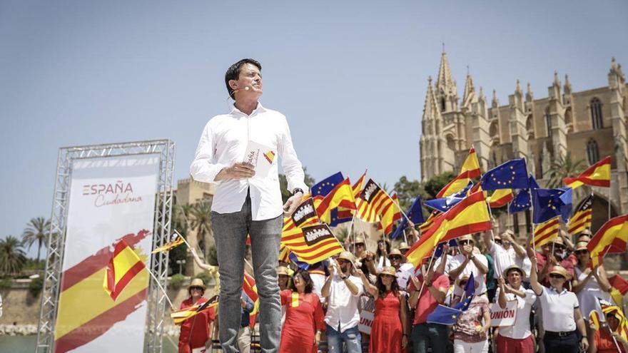 Manuel Valls en el acto de Ciudadanos en Palma