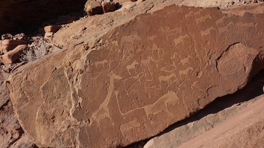 Grabados rupestres en Twyfelfontein. Olivier Bruchez