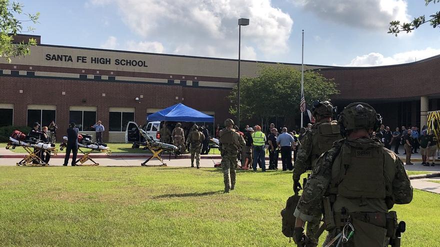 Imagen del instituto Santa Fe, Texas, donde se ha producido el tiroteo.