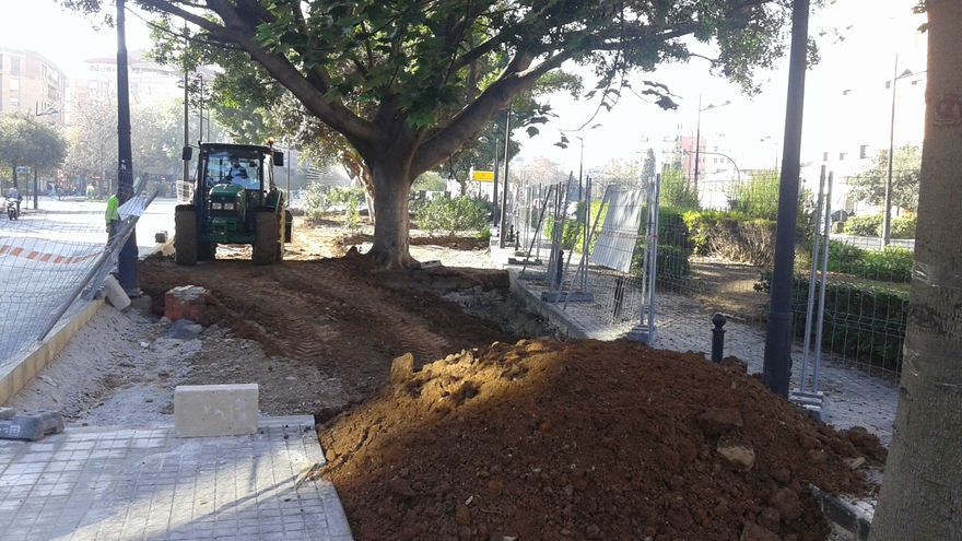 Las obras en la zona central de la avenida de Aragón