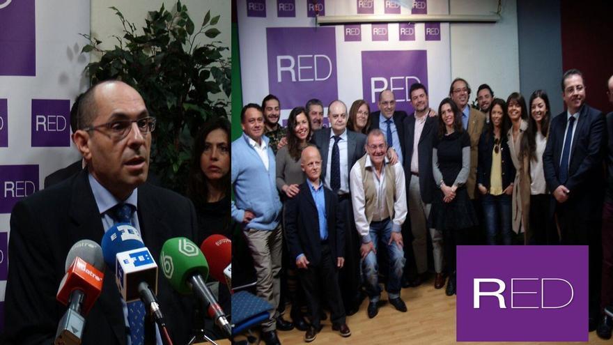 De Fabián, a la izquierda de Elpidio Silva./ Imagen cedida por el Movimiento RED
