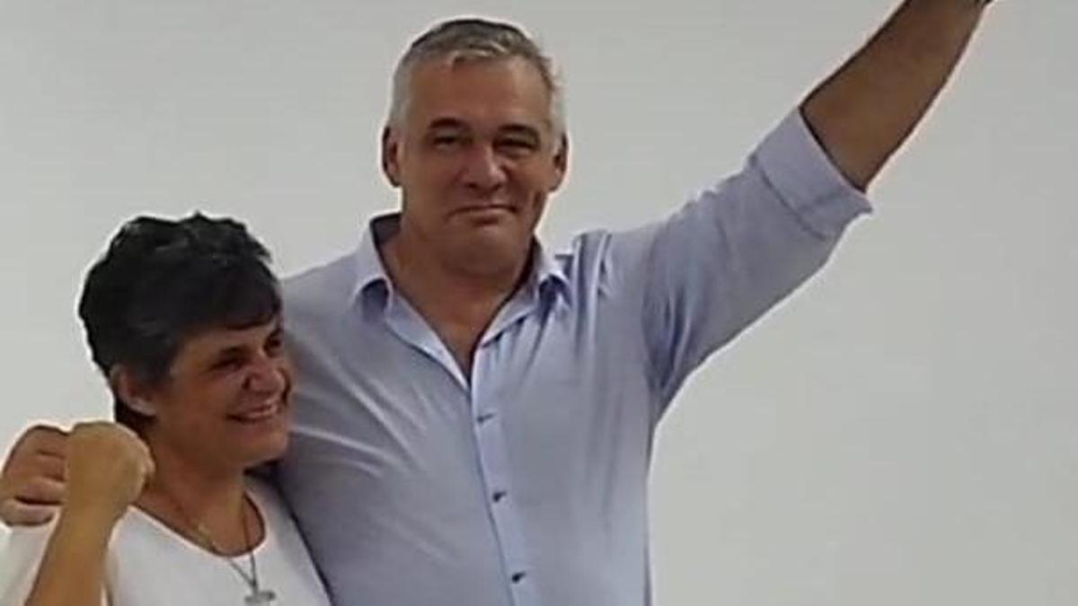 Gabriela Neme y el exjuez Carbajal, candidato de JxC