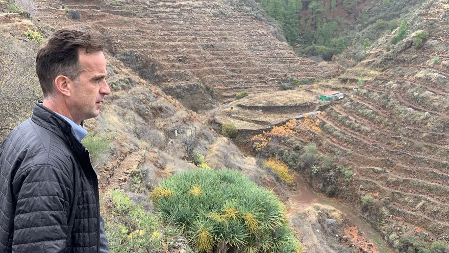 David Forer visitó las subzonas de producción vitivinícola de La Palma.