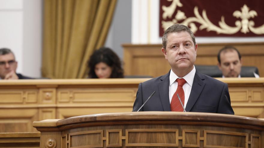 Emiliano García-Page durante el discurso de investidura