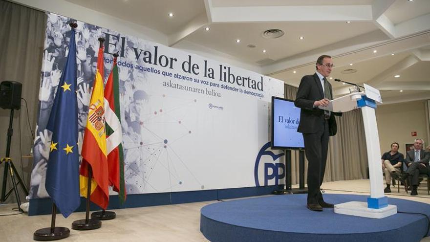 Alonso (PP): ETA representa mañana su acto final de rendición