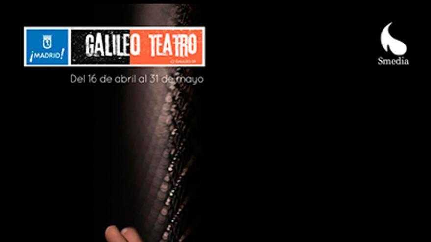 Cartel del espectáculo 'Vooyeur' en el Teatro Galileo de Madrid
