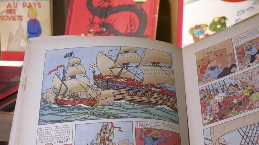 """La maqueta del """"Unicornio"""" de Tintín, subastada en Bruselas por 39.000 euros"""