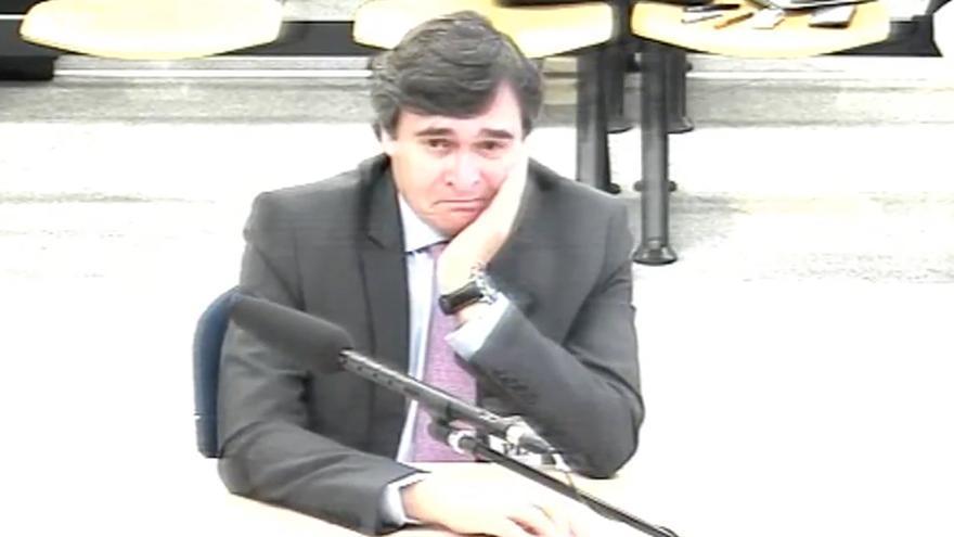 José Antonio Sáenz Jiménez, durante su declaración en el caso Gürtel.