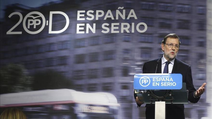 Rajoy afirma que buscará pactos con quienes defiendan el orden constitucional