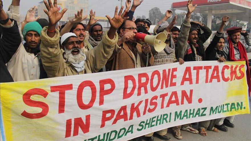 Manifestación en Pakistán contra los ataques con drones por EEUU.