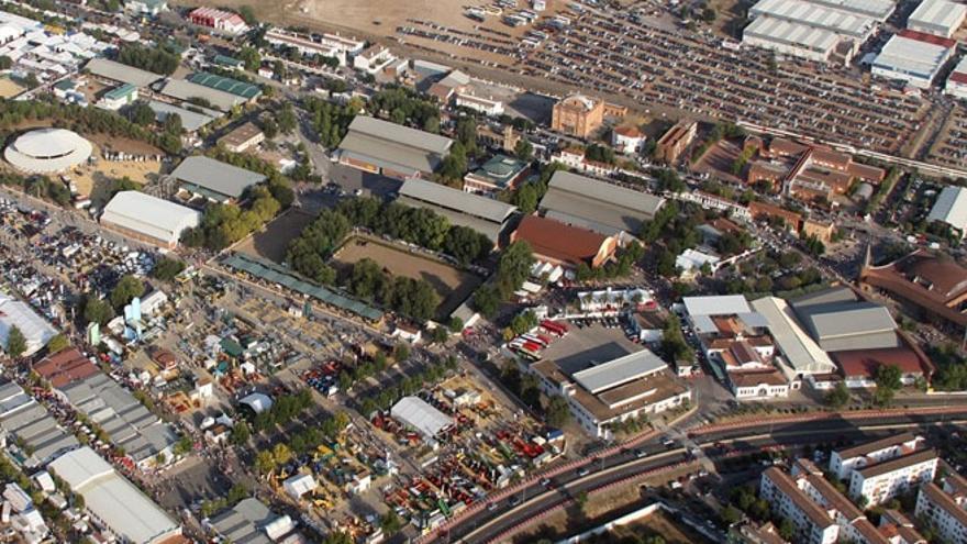 Imagen aérea de la Feria de Zafra