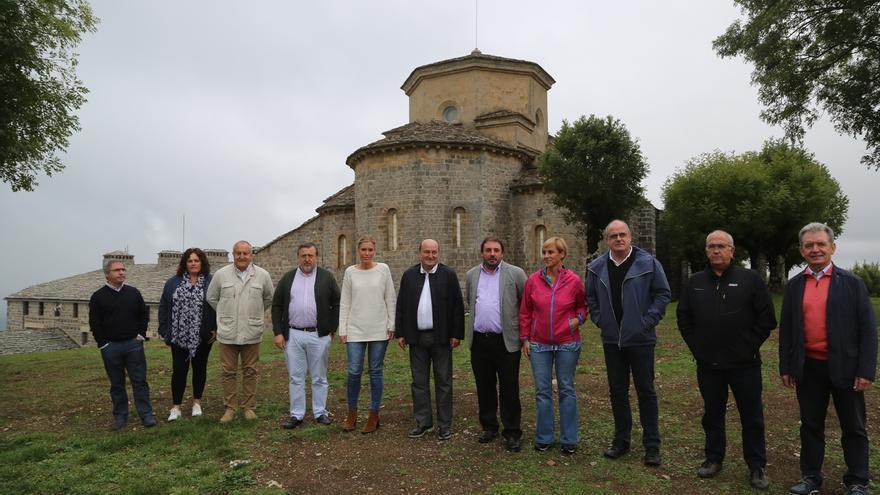 El EBB del PNV se reúne en San Miguel de Aralar en el 40º aniversario del primer Alderdi Eguna