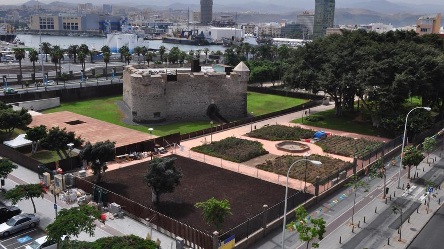 Obras en el Castillo de La Luz