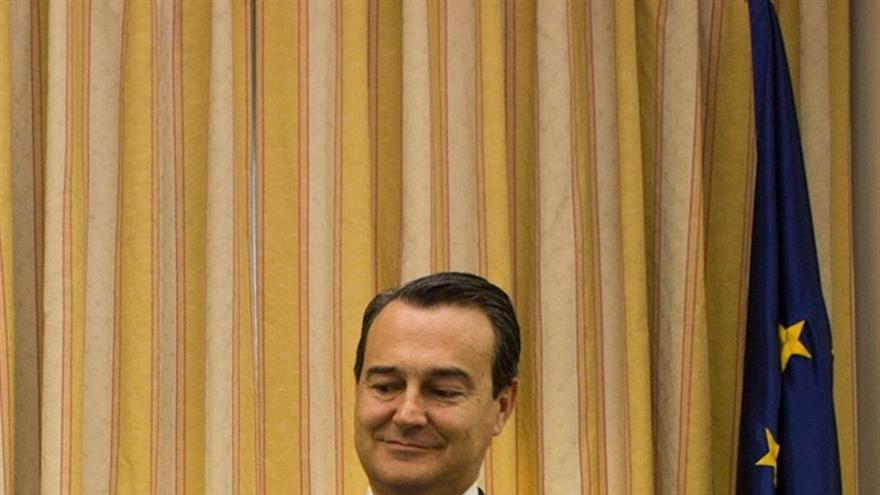 Agustín Conde, en el Congreso de Diputados