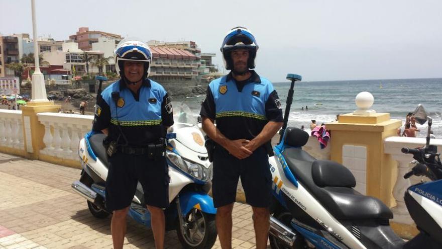 Policía playera en Telde