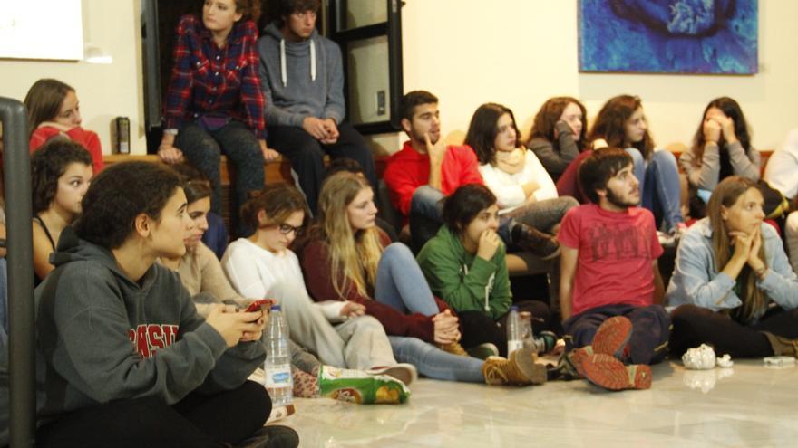 Encierro de estudiantes en la Universidad Carlos III de Getafe