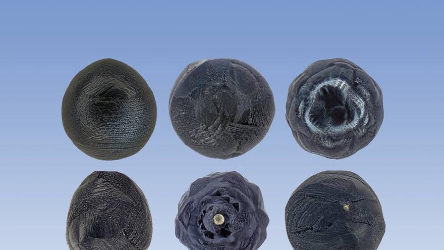 Fotografía macro de micrometeoritos