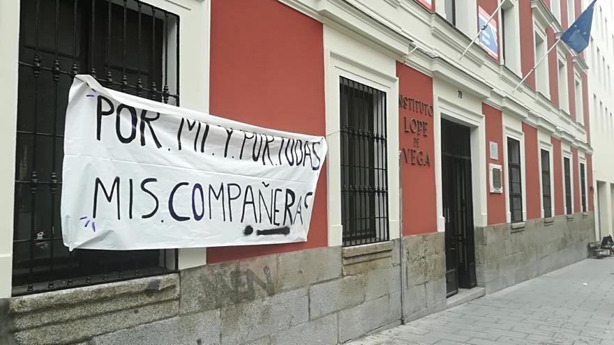 El IES Lope de Vega, de Madrid, paralizado por la huelga.
