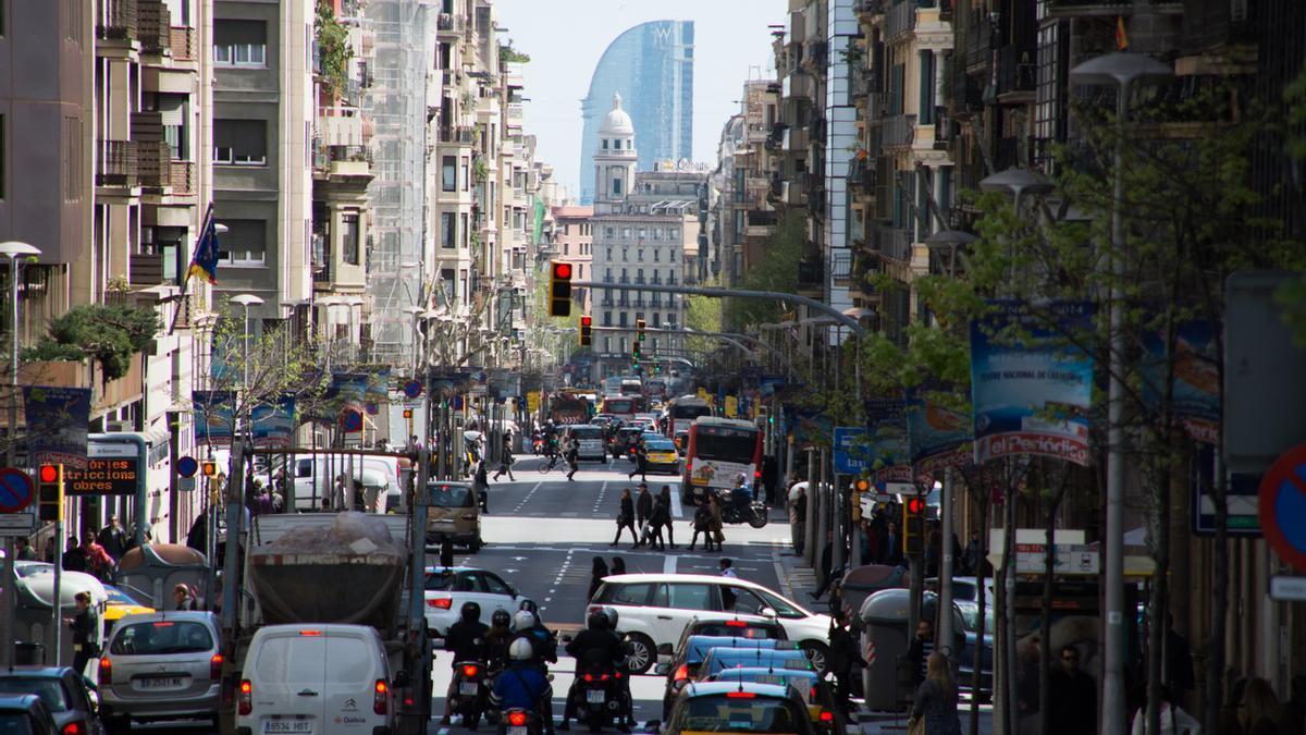 Un carrer de Barcelona.