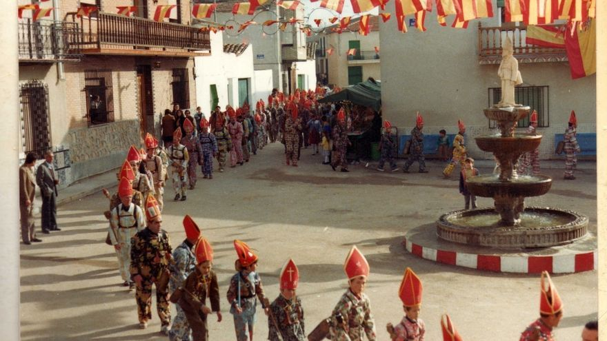 Imagen de la Fiesta de 'La Endiablada' en los años 80 del siglo XX