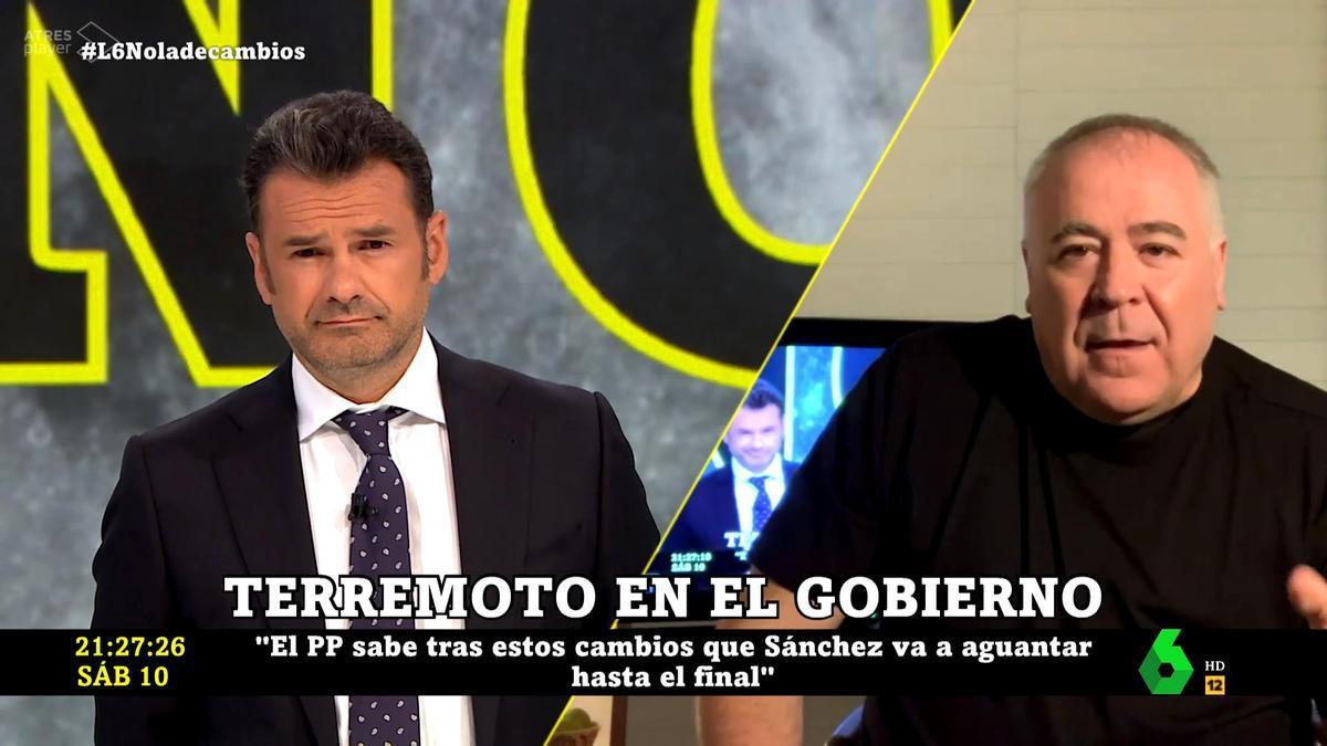 Iñaki López y Antonio García Ferreras en 'laSexta Noche'