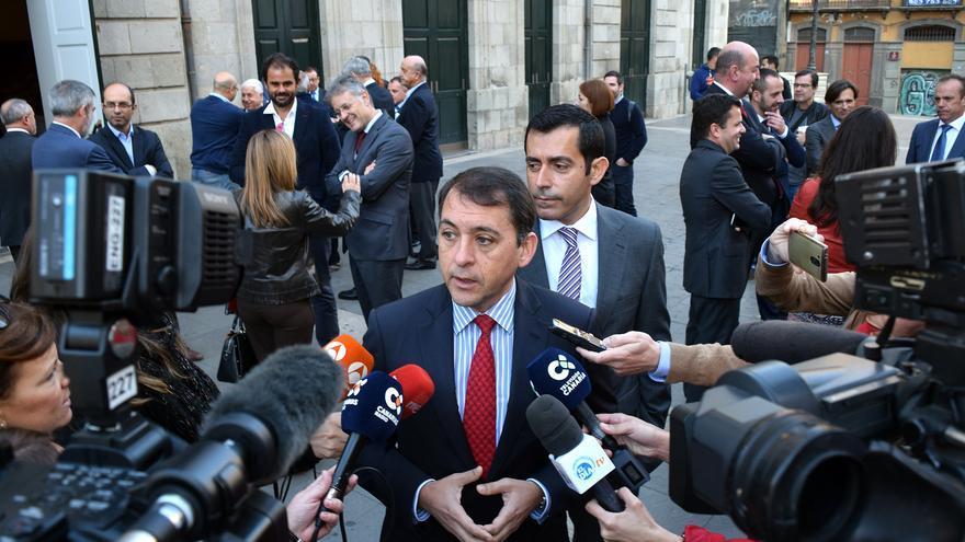 José Manuel Bermúdez, tras presentar las cuentas municipales para 2017