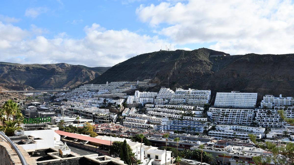 Complejos hoteleros de Puerto Rico, al sur de Gran Canaria
