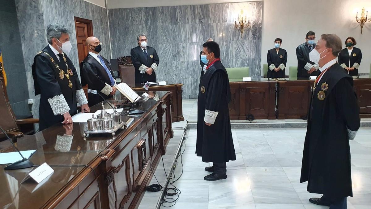 Toma de posesión de Juan Luis Lorenzo Bragado como presidente del TSJC