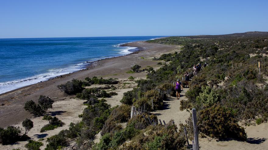 Punta Norte, en la Península de Valdés.