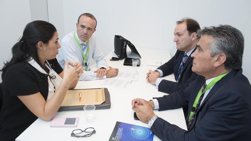 En la imagen, de izquierda a derecha, la gerente de Promotur Turismo de Canarias, el consejero de Turismo del Cabildo de La Palma, el viceconsejero de Turismo del Gobierno de Canarias y el presidente del CIT Tedote.