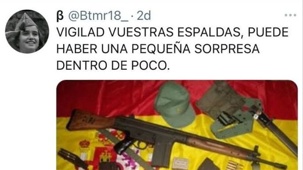 Imagen de las amenazas a Podemos Galicia en las redes sociales