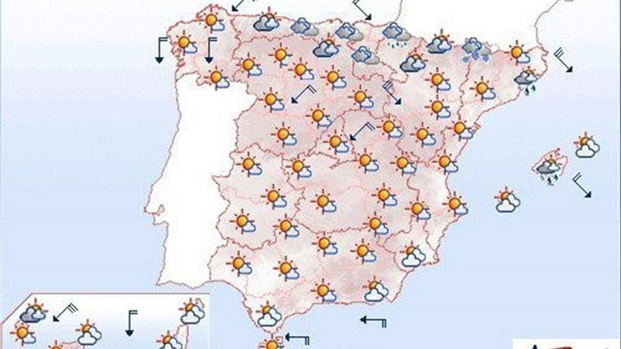 Mañana, viento fuerte en Canarias, el valle del Ebro y Ampurdán