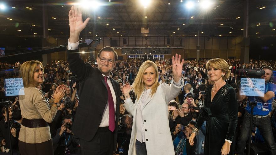 """Aguirre ensalza a Rajoy como el """"mejor para restaurar la concordia"""" y acabar con el """"odio de algunos"""""""