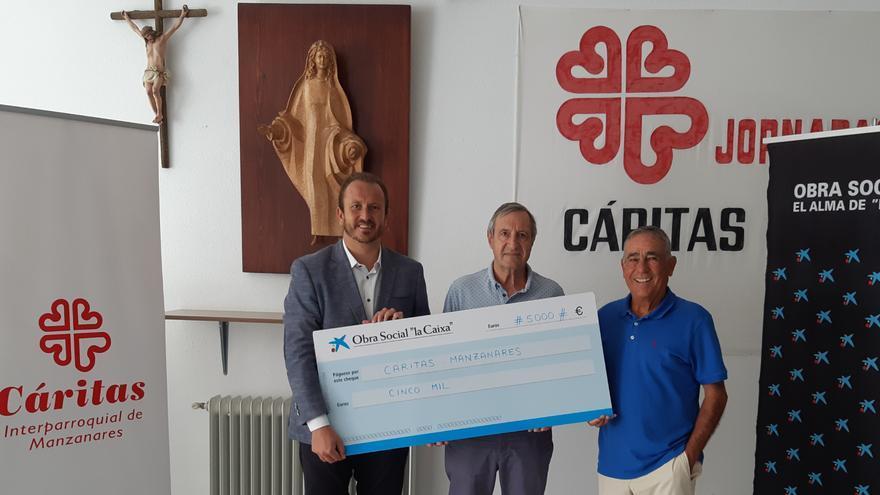 Cáritas Manzanares recibe 5.000 euros para ayudar a familias en situación de exclusión social
