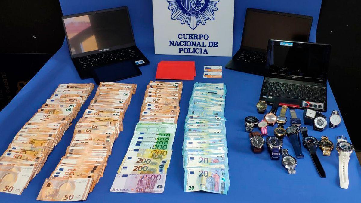 Material incautado por la Policía Nacional en la Operación Alcaucil.
