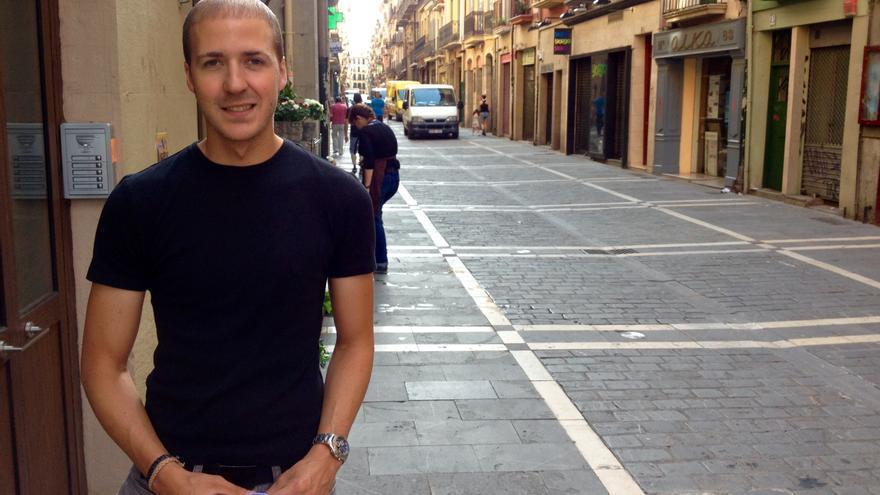 El presidente de la Federación de Peñas de Pamplona, Mikel Donlo.