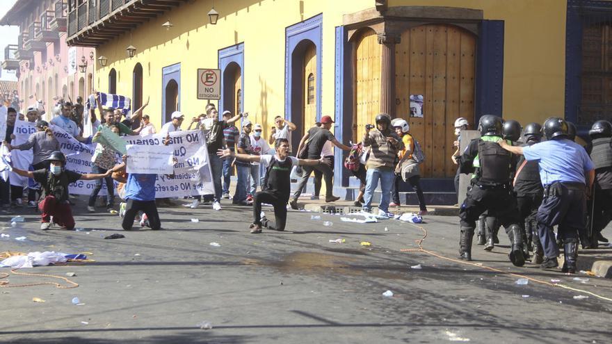 Una de las imágenes captadas por Eddy López Hernández durante las protestas en Nicaragua contra Daniel Ortega.