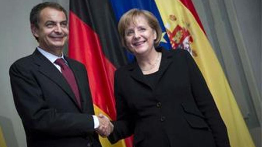 RDP de Zapatero y Merkel en Berlín