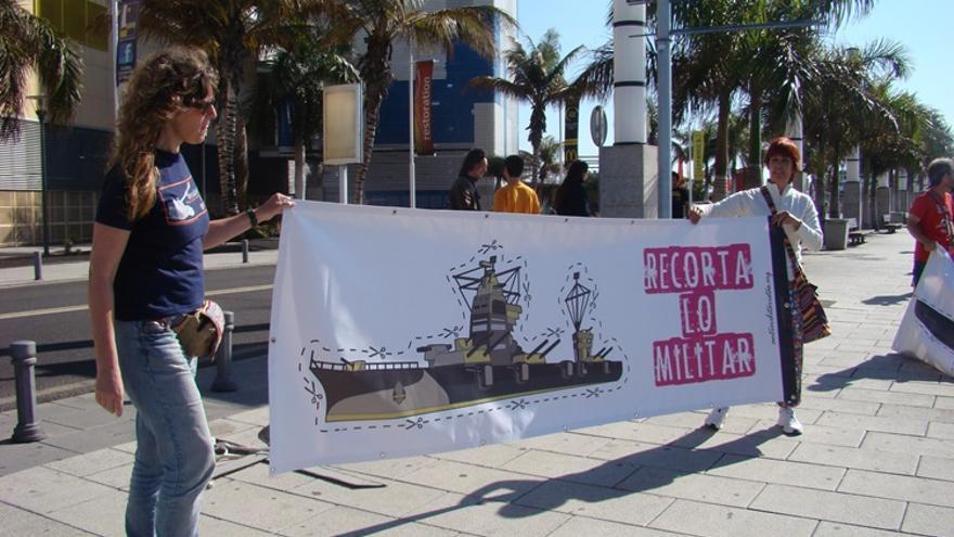 Acción antimilitarista en la Base Naval de Las Palmas de Gran Canaria 2 (Thalía Rodríguez)