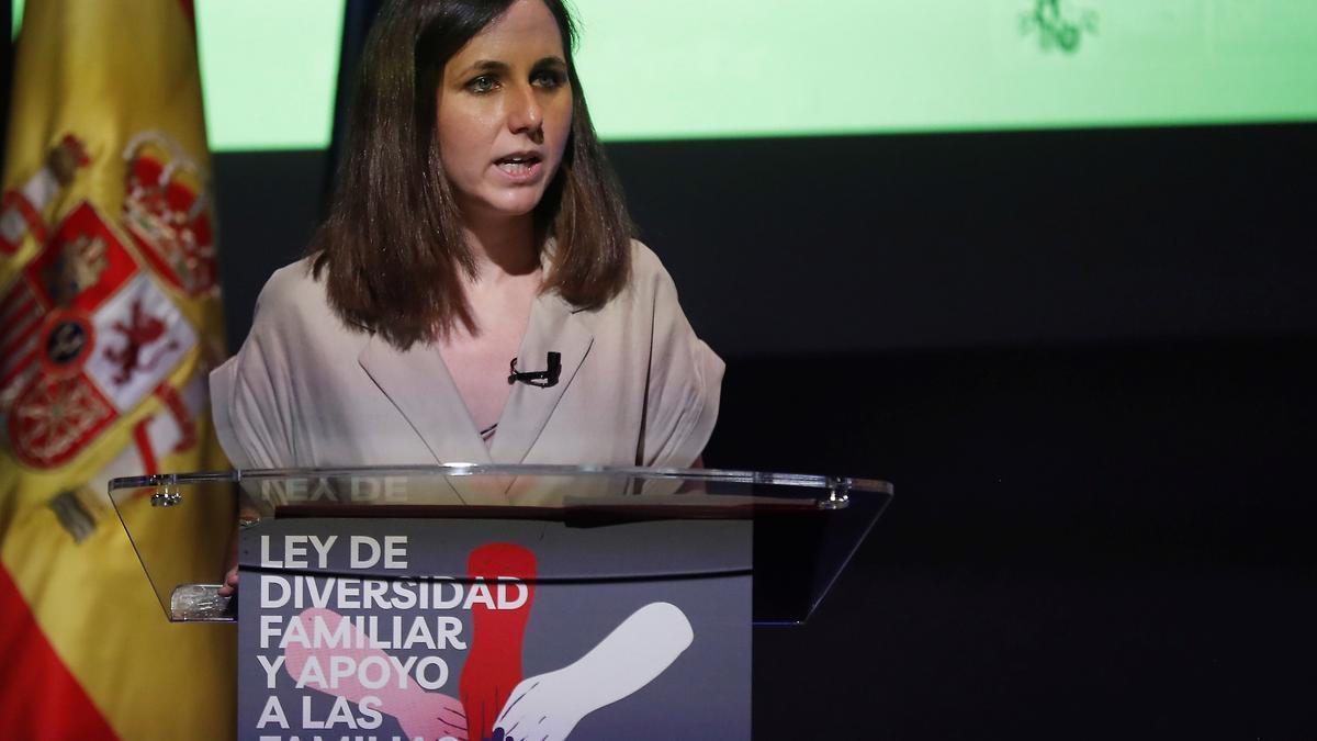 La ministra de Derechos Sociales y Agenda 2030, Ione Belarra, en una imagen de archivo.