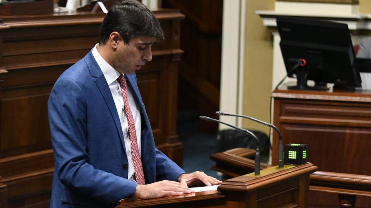 Manuel Abrante, diputado  por La Palma del grupo Socialista en el Parlamento de Canarias.