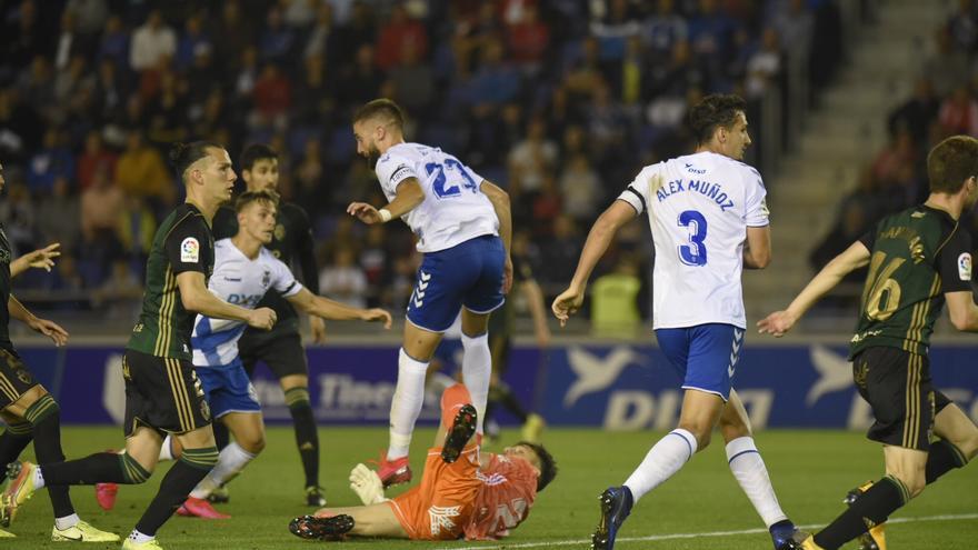 Jugada del último partido disputado por el CD Tenerife