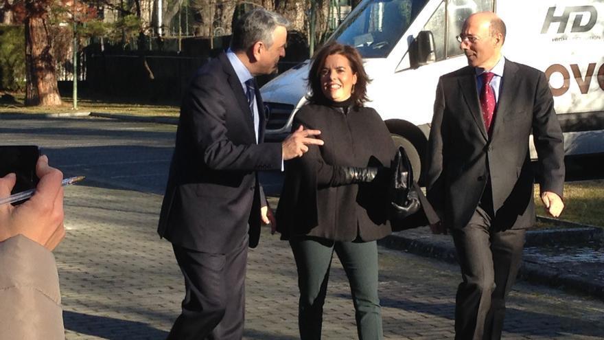 La vicepresidenta, a su llegada