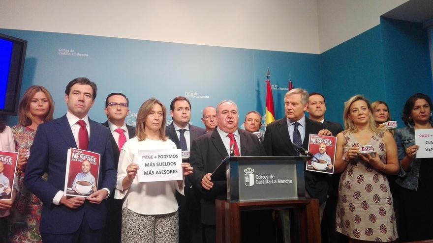 """PP ve que Page """"pasará a la historia"""" por introducir a Podemos en un gobierno y eso es """"un grave problema para España"""""""