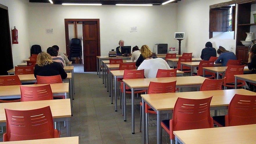 En la imagen, aula de exámenes de la Uned.