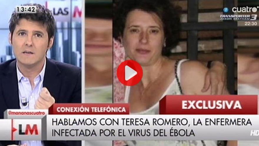 Las Mañanas de Cuatro entrevista por teléfono a la auxiliar de enfermería enferma de ébola.