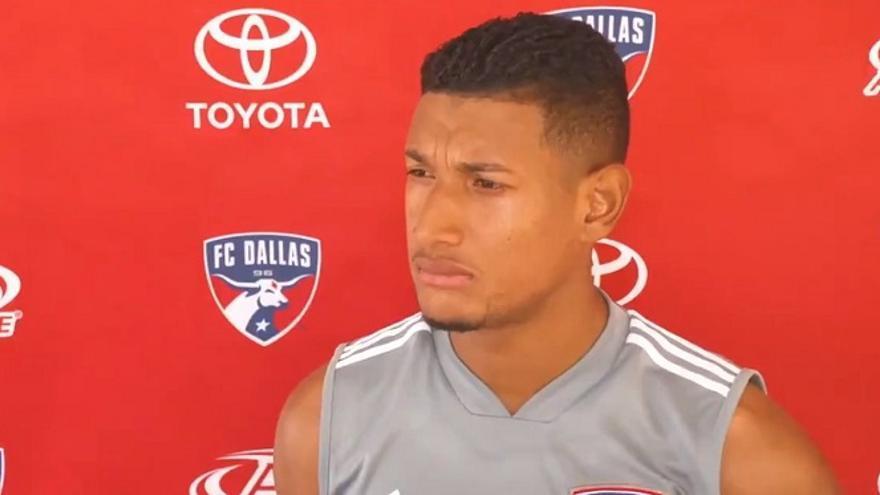 El futbolista hondureño Bryan Acosta.